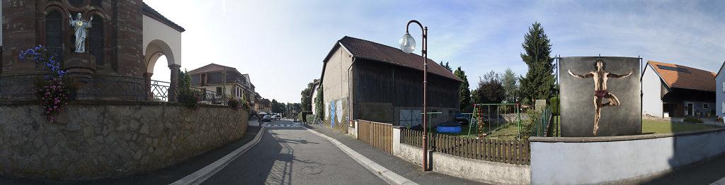 """Panoramique installation """"Sacrés cœurs !"""""""